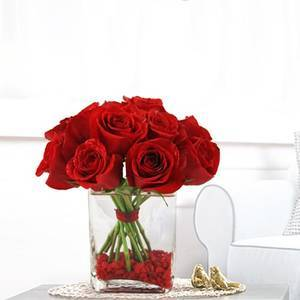 Everlasting Love with Red Roses