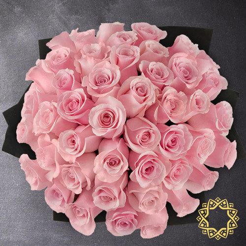 50 Pink Roses by Flora Flora | Buy Flowers in Riyadh Jeddah KSA | Gifts