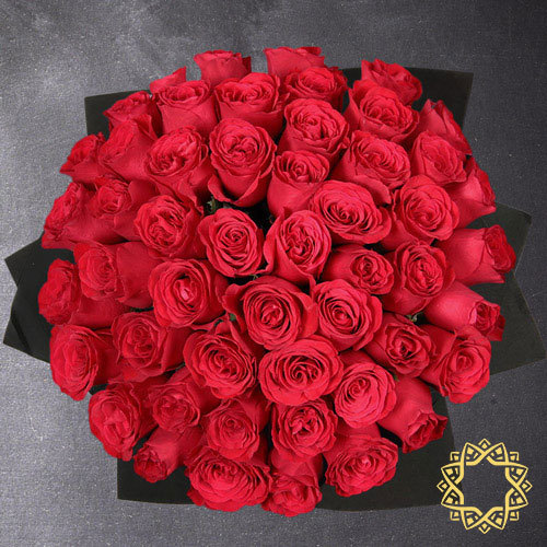 50 Red Roses by Flora Flora | Buy Flowers in Riyadh Jeddah KSA | Gifts