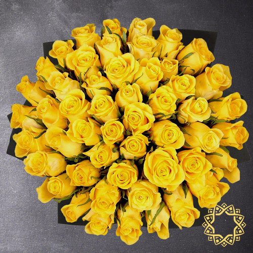 50 Yellow Roses by Flora Flora | Buy Flowers in Riyadh Jeddah KSA | Gifts