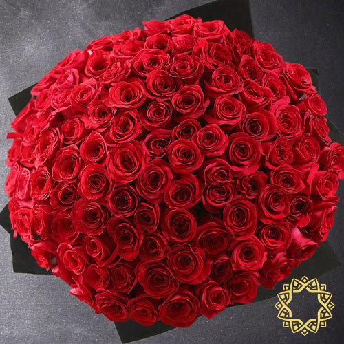 100 Red Roses by Flora Flora | Buy Flowers in Jeddah KSA | Gifts
