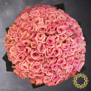 100 Pink Roses by Flora Flora | Buy Flowers in Riyadh Jeddah KSA | Gifts