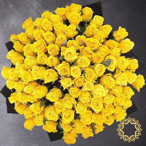 100 Yellow Roses by Rose Privée | Buy Flowers in Riyadh Jeddah KSA | Gifts