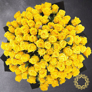 100 Yellow Roses by Rose Privée | Buy Flowers in Riyadh Jeddah KSA | Gifts